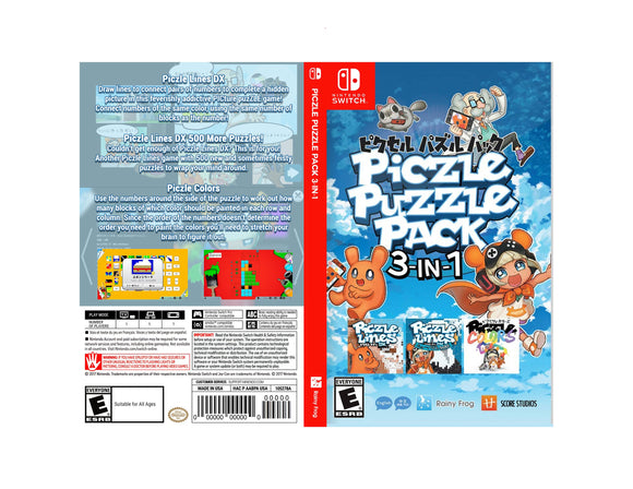 Piczle Puzzle Pack 3-in-1 - Custom Nintendo Switch Art Cover w/ Game Case
