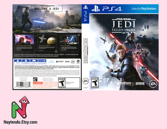 Star Wars Jedi Fallen Order - PS4 Replacement Cover