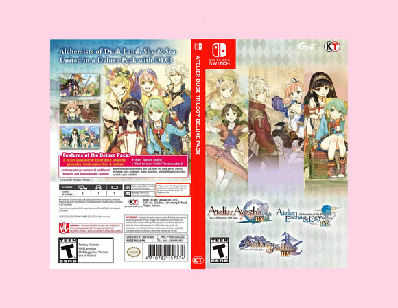 Atelier Dusk Trilogy Deluxe Pack  - Custom Nintendo Switch Art Cover w/ Game Case