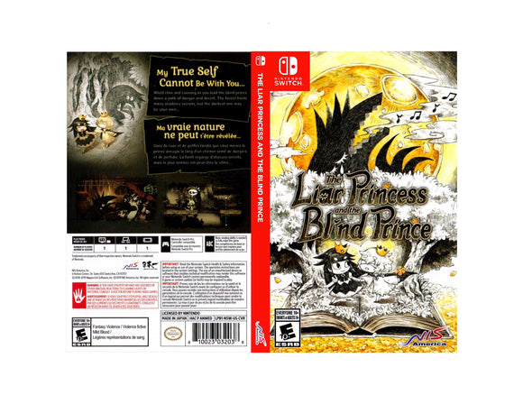 The Liar Princess and the Blind Prince - Custom Nintendo Switch Art Cover w/ Game Case