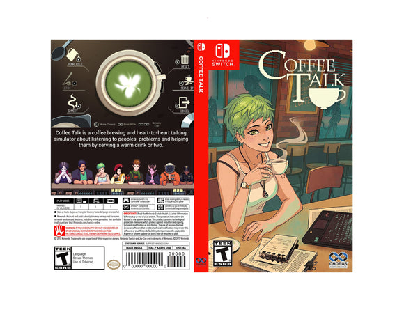 Coffee Talk - Custom Nintendo Switch Art Cover w/ Game Case