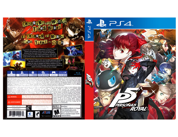 Persona 5 Royal - Custom PS4 Art Cover