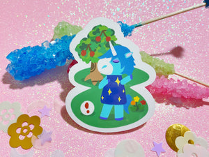 Animal Crossing - Julian VINYL Sticker Holographic or Gloss