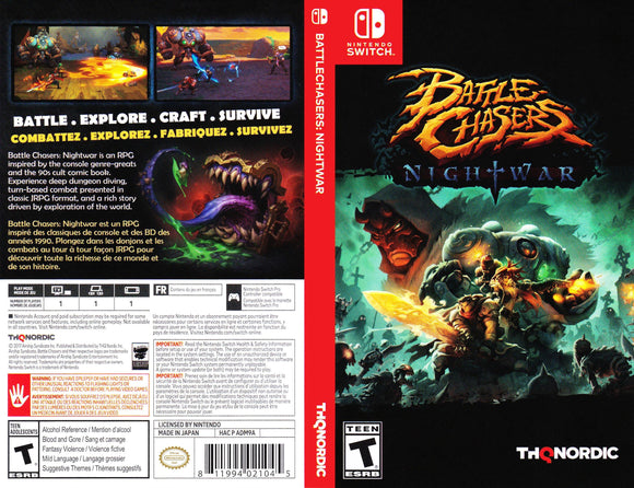 Battle Chasers Nightwar - Custom Nintendo Switch Art Cover