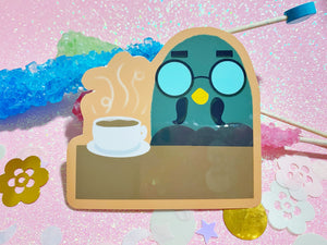 Animal Crossing - Mornings at Brewster's VINYL Sticker Holographic or Gloss