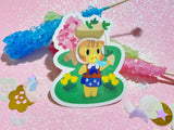 Animal Crossing - Daisy Mae VINYL Sticker Holographic or Gloss