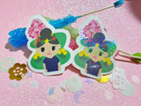 Animal Crossing - Villager Girl VINYL Sticker Holographic or Gloss