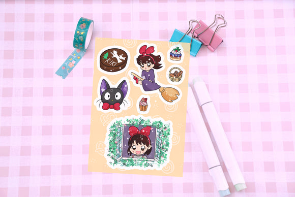 Kiki's Bakery Vinyl Sticker Sheet