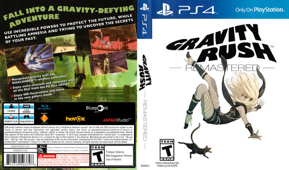 Gravity Rush: Remastered - Custom PS4 Cover