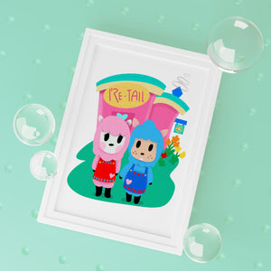 Reese and Cyrus' Re-tail Animal Crossing Art Print