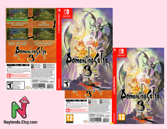 Romancing SaGa 3 - Custom Nintendo Switch Art Cover