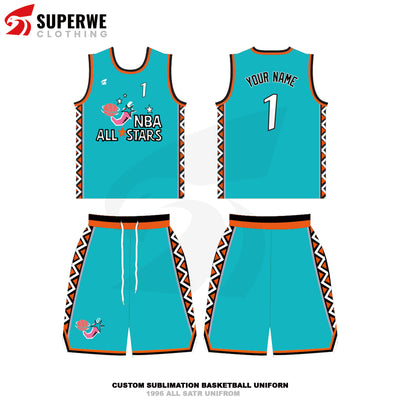 Custom 1996 All Star Basketball Jersey - Superwe clothing