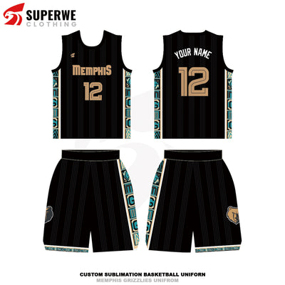 Custom Memphis Grizzlies 2020-21 City Edition NBA Basketball Jersey - Superwe clothing