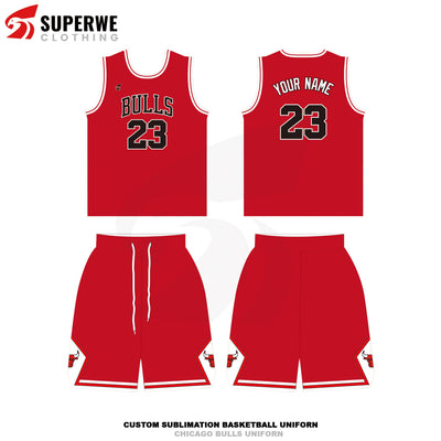 Custom Chicago Bulls NBA Basketball Jersey - Superwe clothing