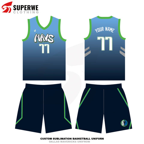 Custom Dallas Mavericks City Edition NBA Basketball Jersey - Superwe clothing