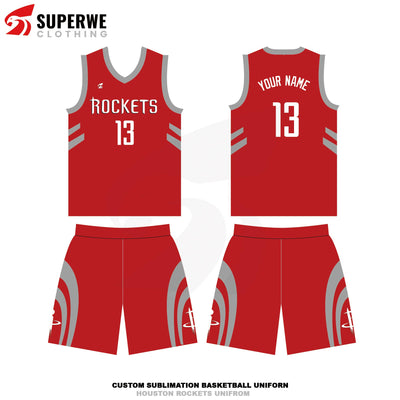 Custom Houston Rockets NBA Basketball Jersey - Superwe clothing
