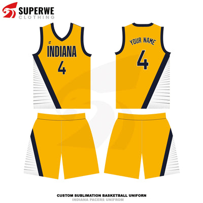 Custom Indiana Pacers Statement Edition NBA Basketball Jersey - Superwe clothing