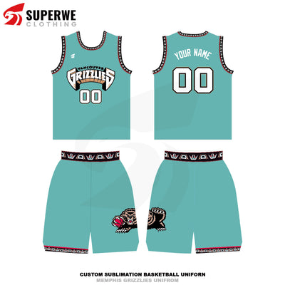 Custom Memphis Grizzlies NBA Basketball Jersey - Superwe clothing