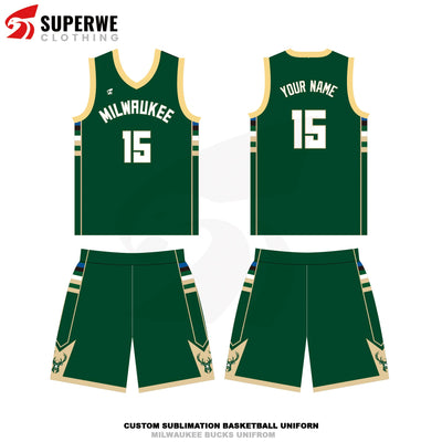 Custom Milwaukee Bucks NBA Basketball Jersey - Superwe clothing