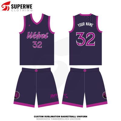 Custom 2020-21 Timberwolves Basketball Jersey - Superwe clothing