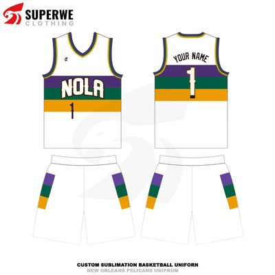 Custom New Orleans Pelicans City Edition NBA Basketball Jersey - Superwe clothing