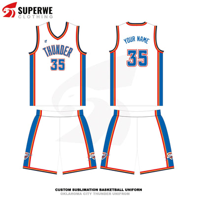Custom Oklahoma City Thunder NBA Basketball Jersey - Superwe clothing
