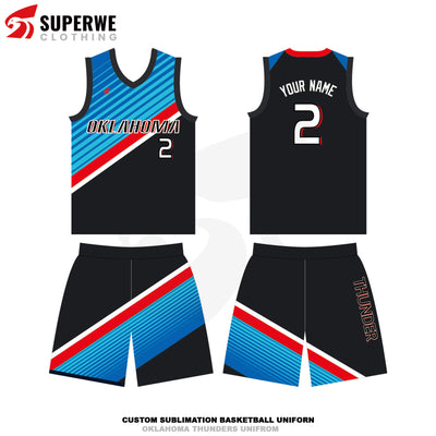 Custom 2020-21 Thunder Basketball Jersey - Superwe clothing