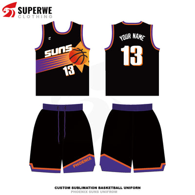 Custom 1996-97 Suns Basketball Jersey - Superwe clothing