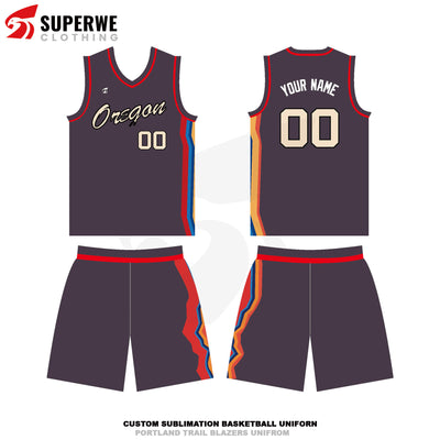 Custom 2020-21 Blazers Basketball Jersey - Superwe clothing