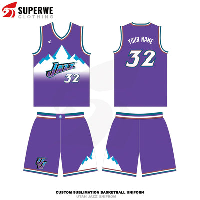 Custom Utah Jazz Classics NBA Basketball Jersey - Superwe clothing