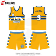 Custom Yellow Denver Nuggets City Edition NBA Basketball Jersey - Superwe clothing