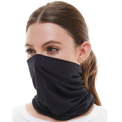 Neck scarf face mask (black)