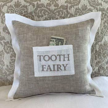 Tooth Fairy Linen Pillow
