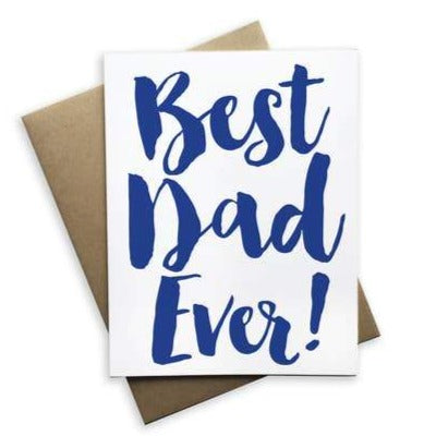 Best Dad Ever Notecard (White)
