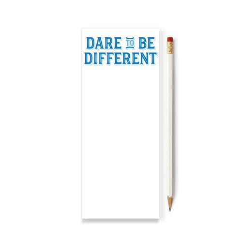 Dare to Be Different Skinny Notepad