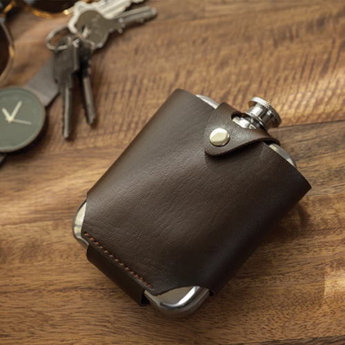 Admiral™ Stainless Steel Flask and Traveling Case by Viski