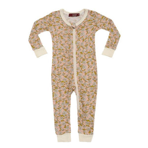 Zipper Pajama Rose Floral 2-3Y