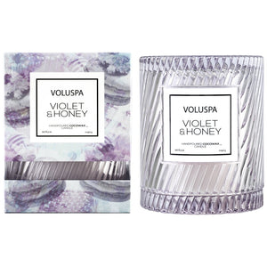 Violet & Honey Icon Candle with Cloche Cover