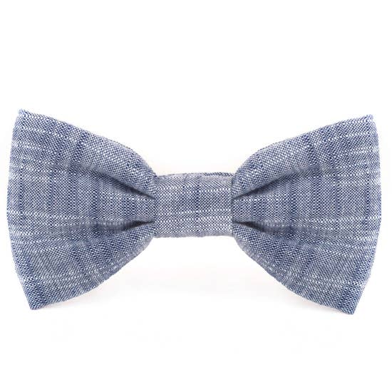 Chambray Dog Bow Tie Standard