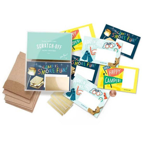 Scratch-off Mini Notes Set -  Camp