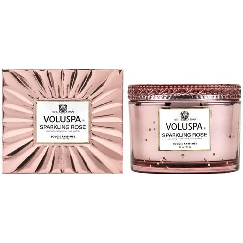 BOXED SPARKLING ROSE CORTA MAISON CANDLE WITH LID