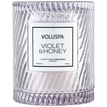 Load image into Gallery viewer, Violet & Honey Icon Candle with Cloche Cover