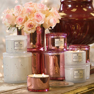 PROSECCO ROSE 11 OZ CORTA MAISON GLASS CANDLE W/ LID