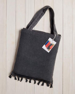 BEACH BLANKET WITH TOTE BAG - WASHED GREY
