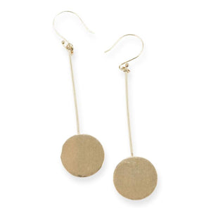 Brass Stick to Circle Earrings