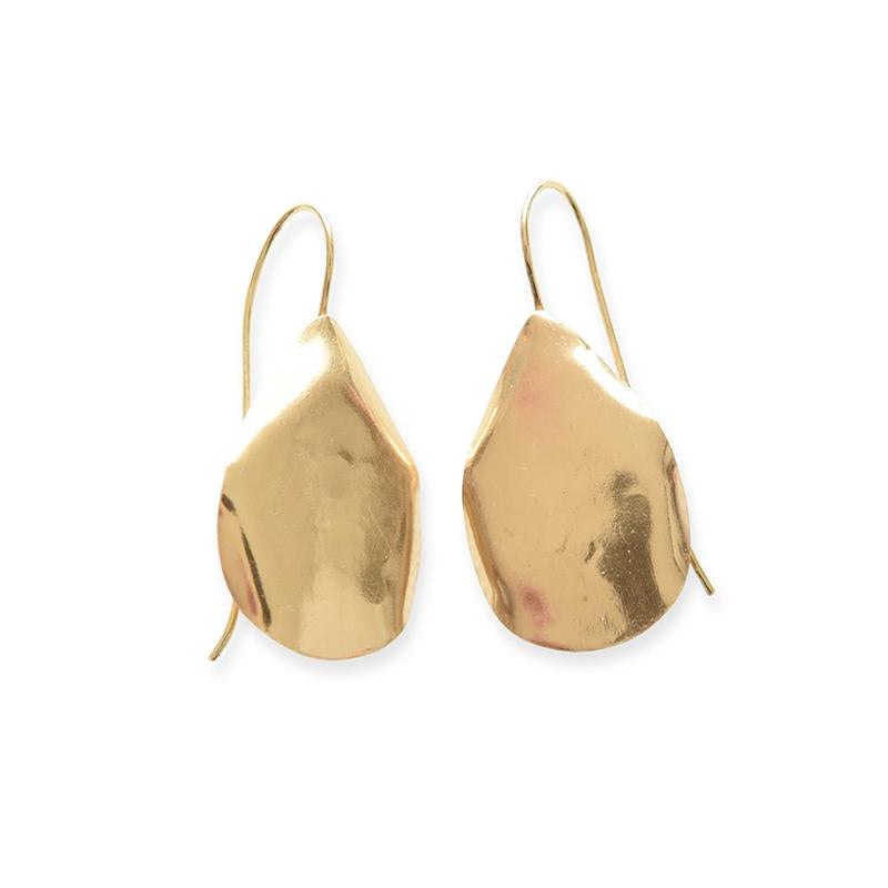 SMALL ORGANIC DROP BRASS EARRINGS 1.75