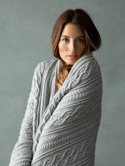 Crystal Cable Knit Throw