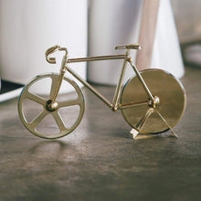 Load image into Gallery viewer, Bicycle Pizza Cutter Gold