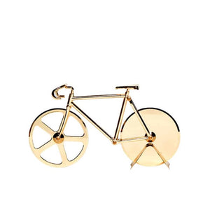 Bicycle Pizza Cutter Gold