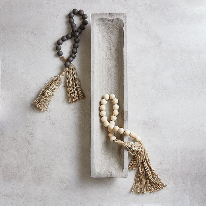 Dark wood blessing bead with tassel